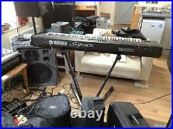 Yamaha s90xs 88 key Professional synthesizer/stage Piano Heavy Case & Stand